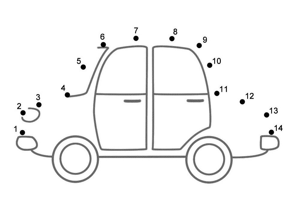 A Car Dot To Dots