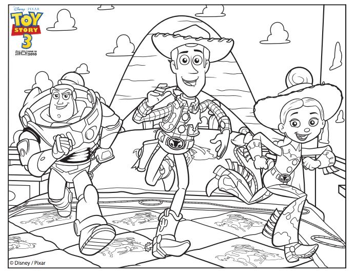 Buzz, Woody And Jessie