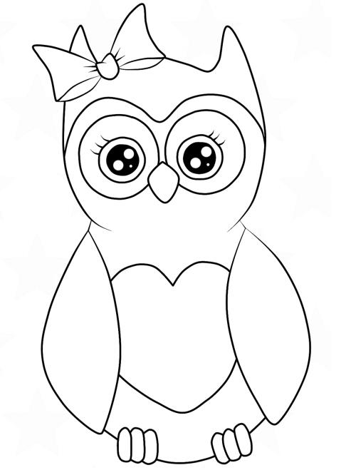 Owl With Hair Bow