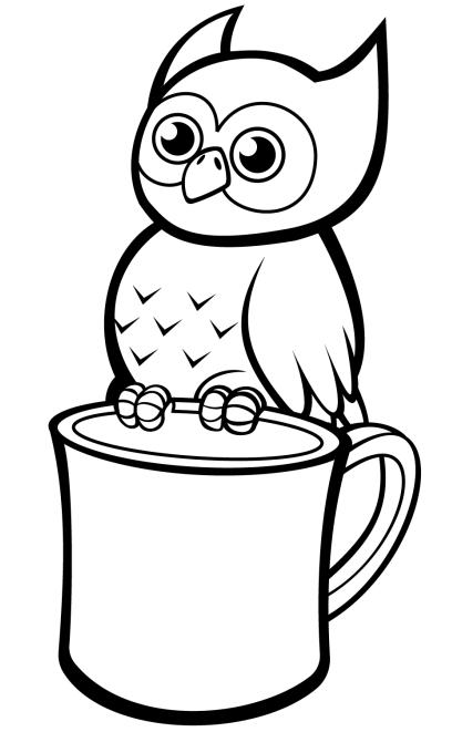 Owl On Mug