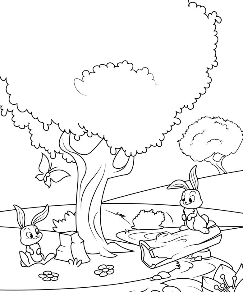 Rabbits Under The Tree