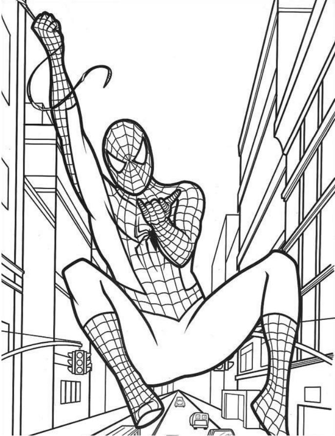 Spider Man Swinging