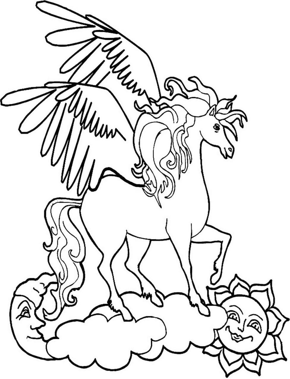Unicorn Standing On Cloud