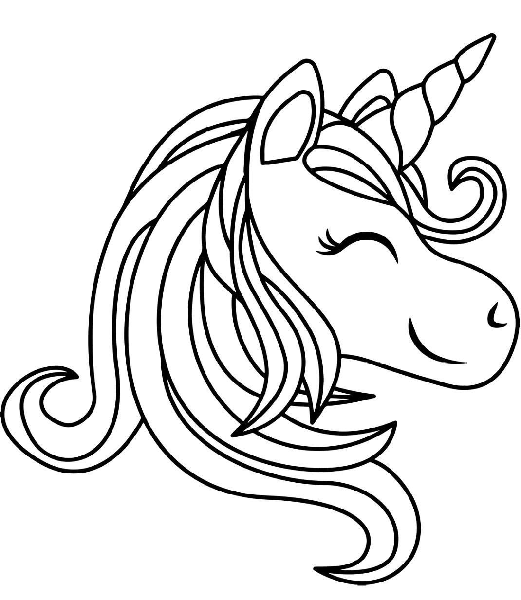 Unicorn Head Smiling