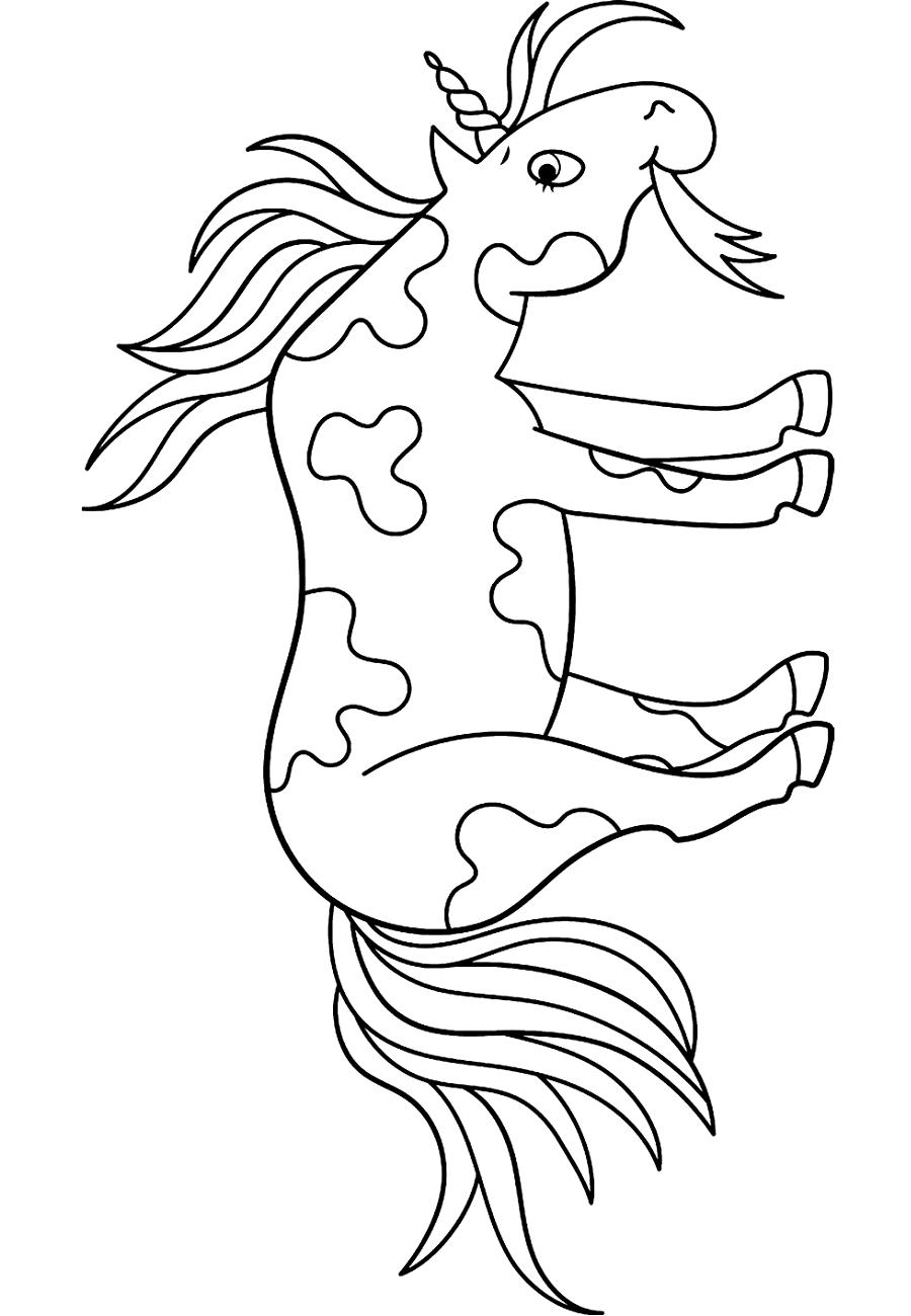 Unicorn Eating Hierba