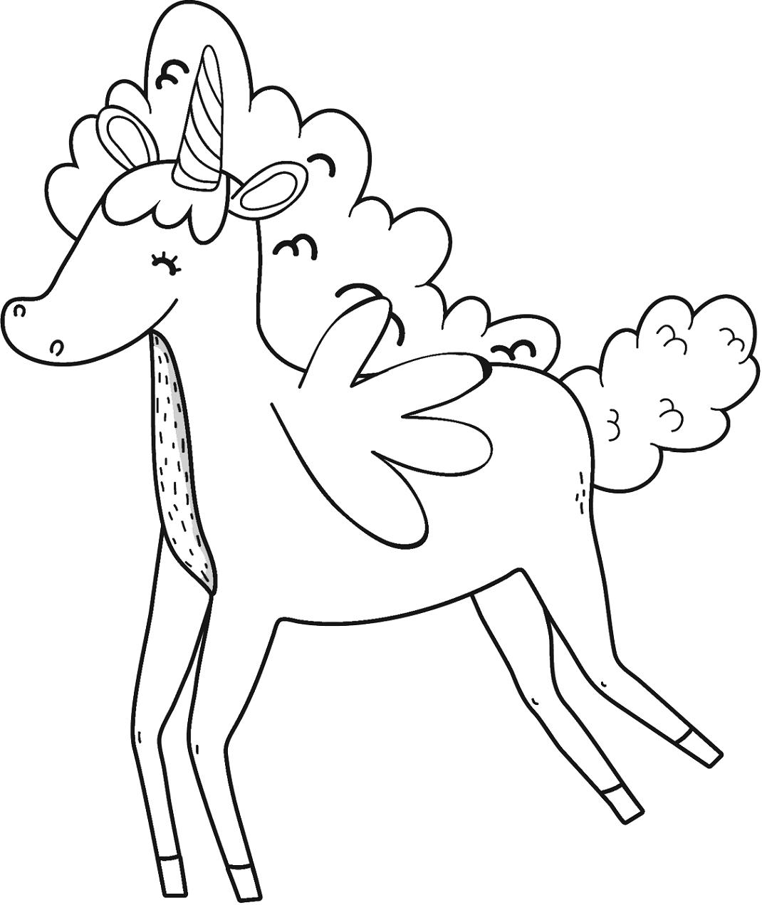 Unicorn Has Cute Wings
