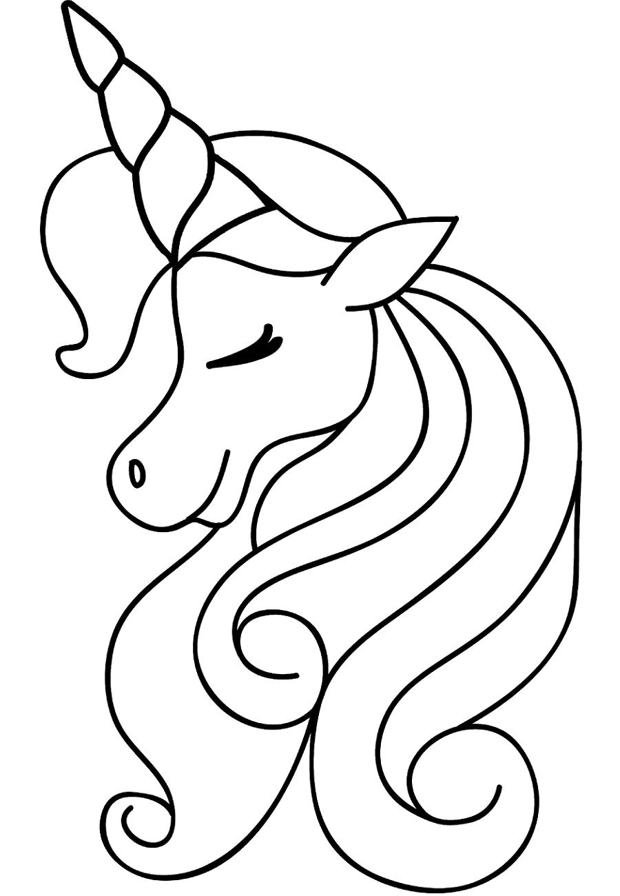 Girl Unicorn Head