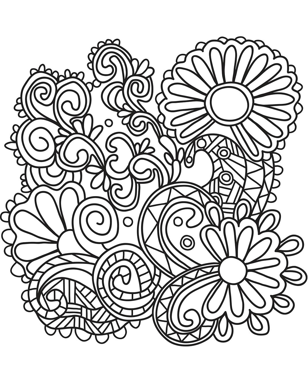 Sunflowers Doodle Art