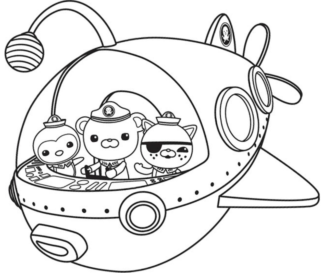 Peso, Captain, Kwazii In Octonauts Ship