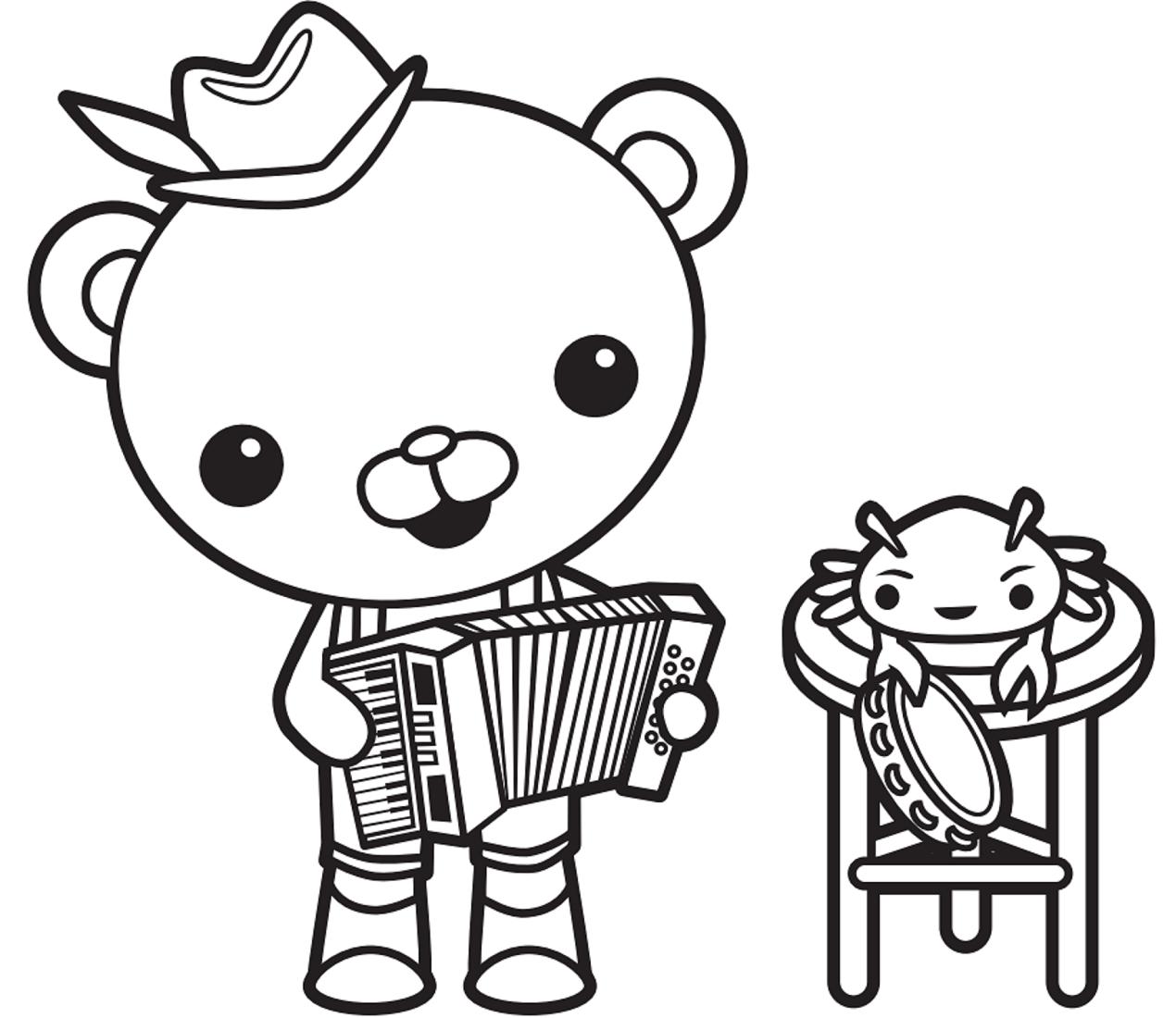 Barnacles Playing Accordion