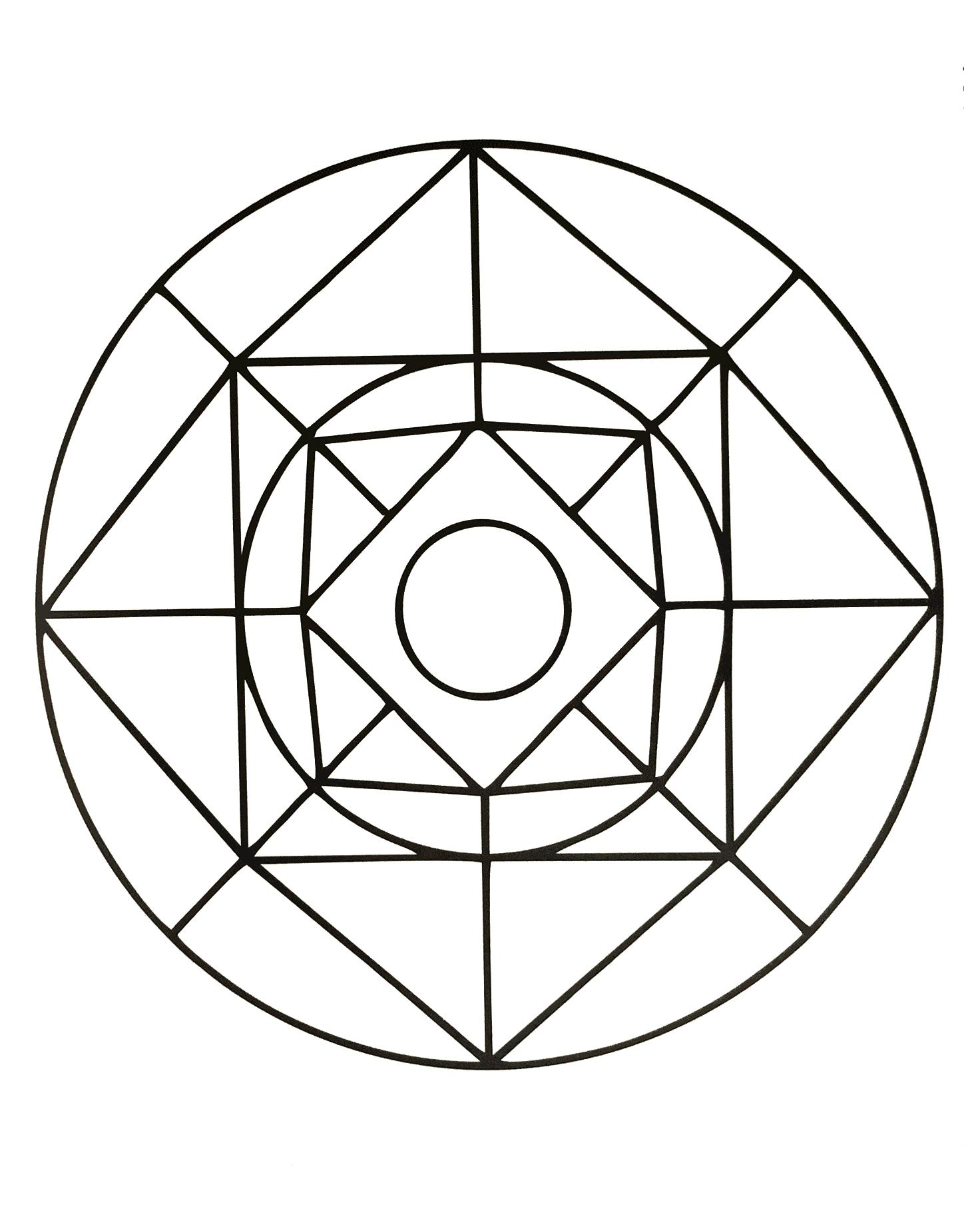 Square And Circle Geometric