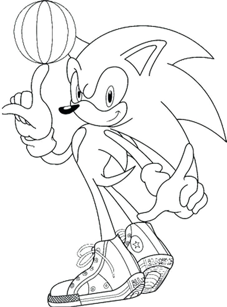 Sonic Playing Basketball
