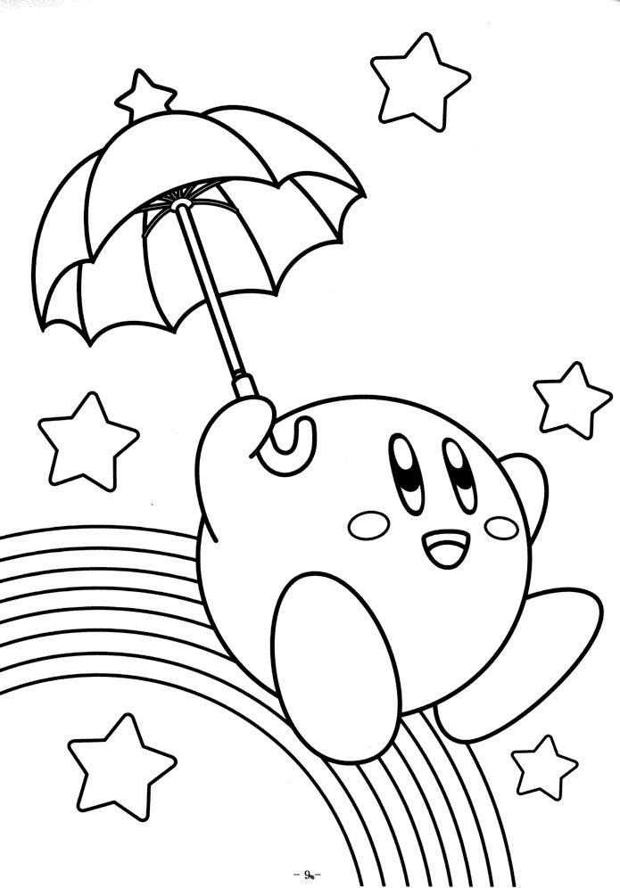 Kirby With Rainbow