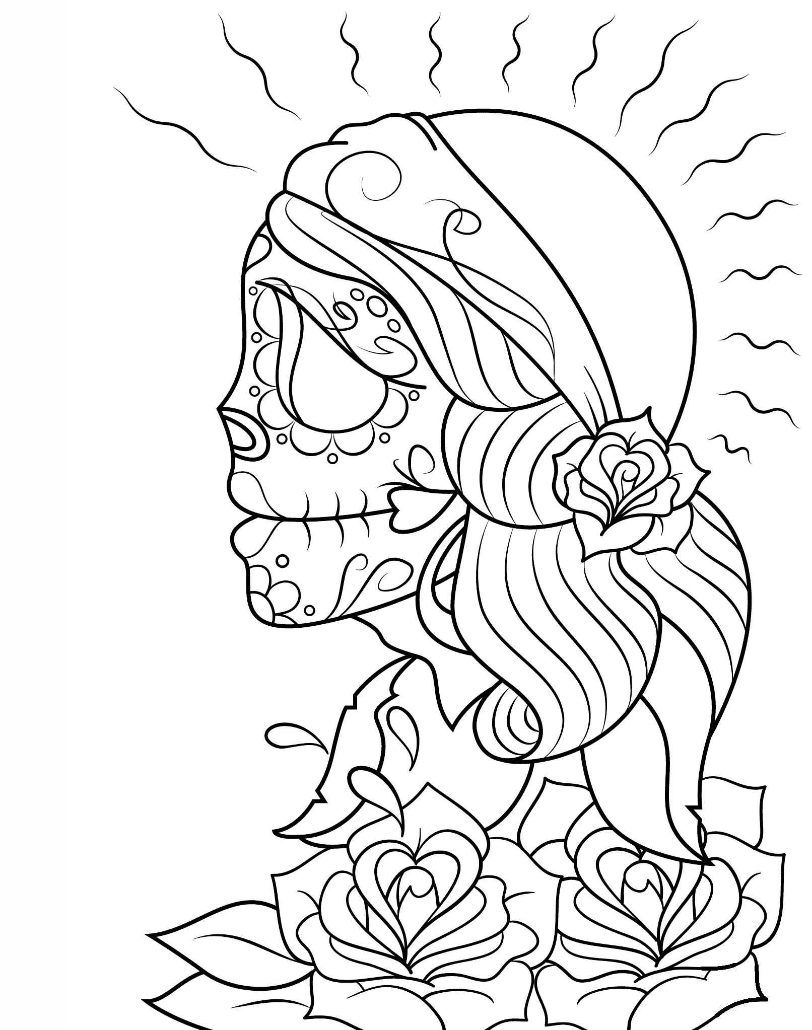 Day Of The Dead Girl Skull