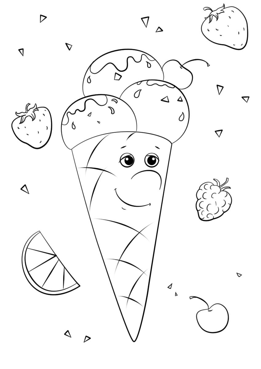Ice Cream Character Cute