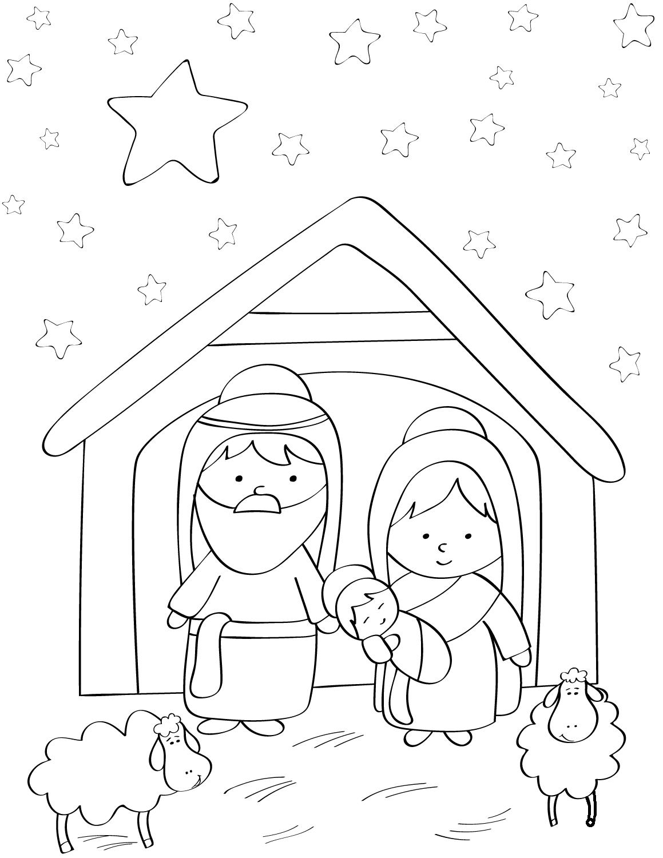 Mary, Joseph And Baby Jesus