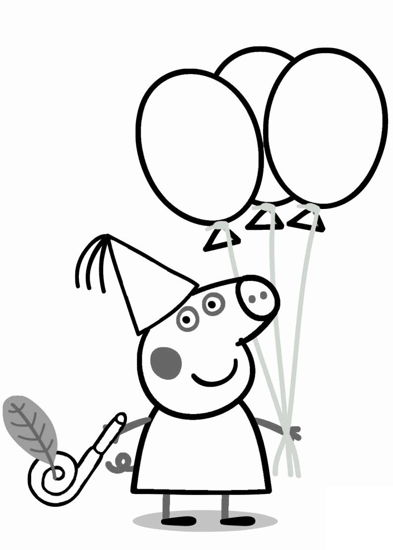 Peppa Pig And Balloons