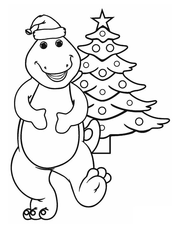 Barney and Christmas Tree