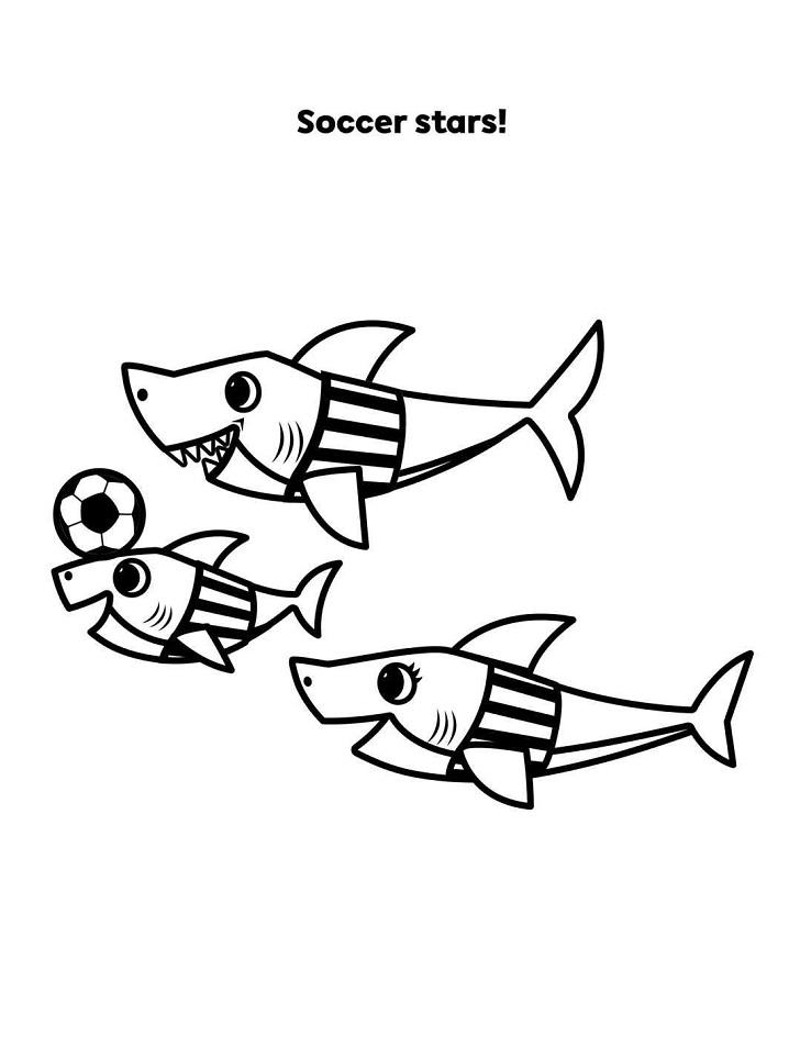 Baby Shark Family Soccer Stars