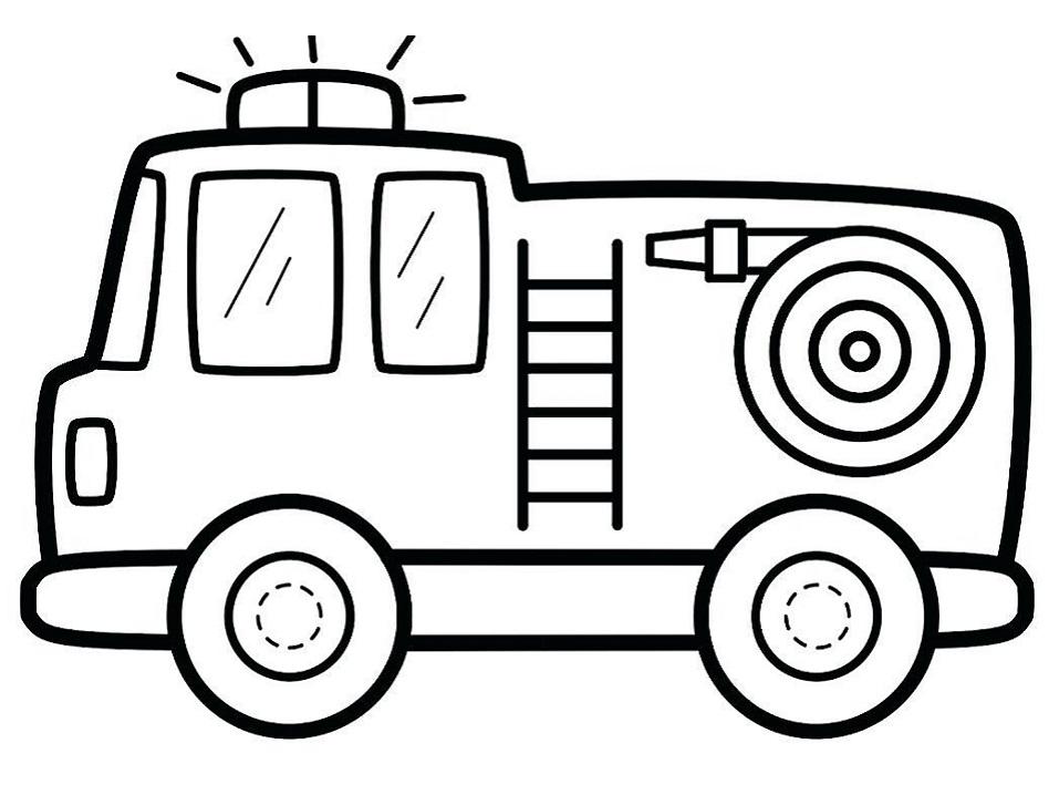 Cute Fire Truck