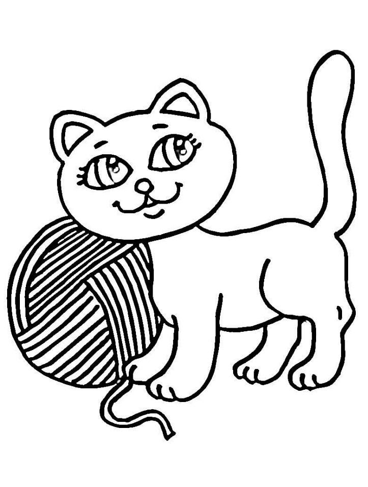 Kitten and Yarn