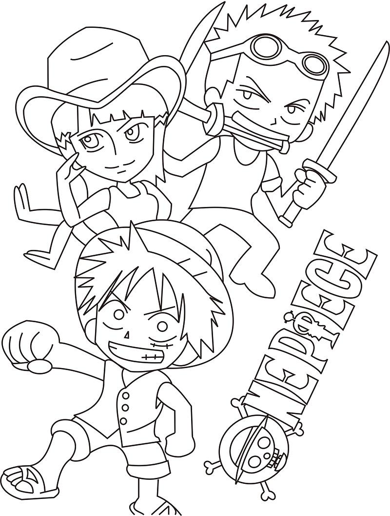 Chibi Zoro, Luffy and Robin