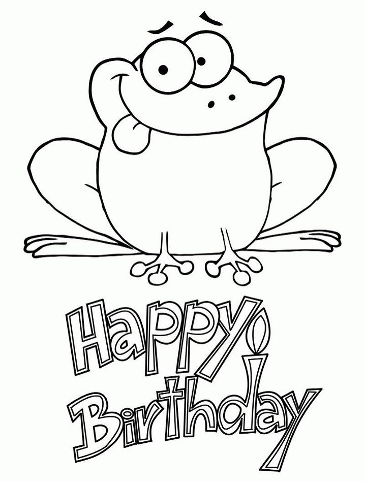 Birthday Frog