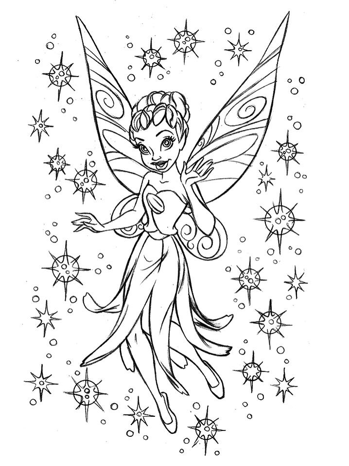 Disney's Tinkerbell Fan Art Drawing
