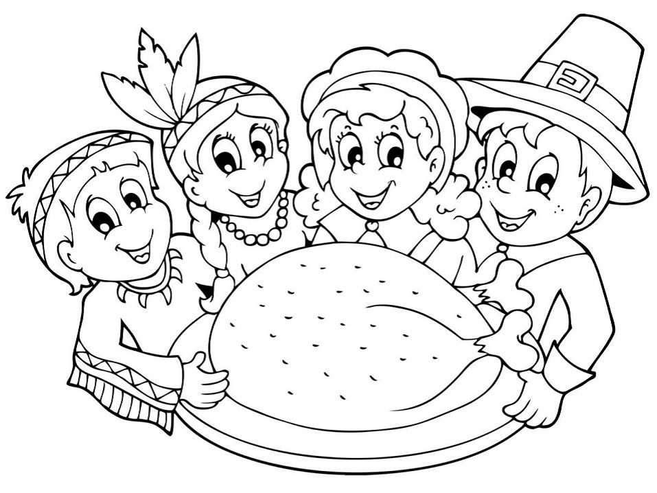 Kids with Big Turkey