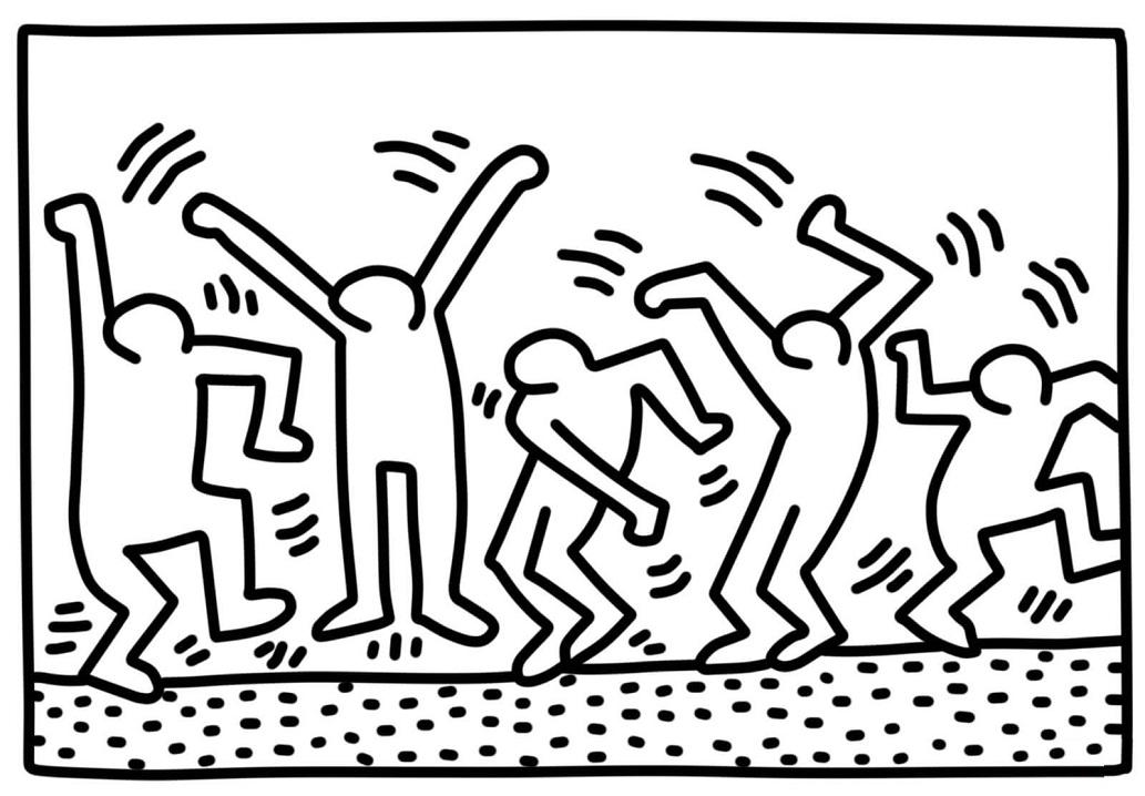 Dancin gFigures by Keith Haring