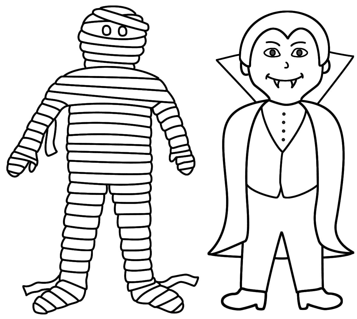 Vampire and Mummy
