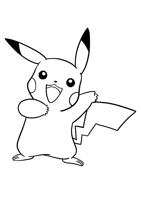 Pokemon Pikachu Coloring Page
