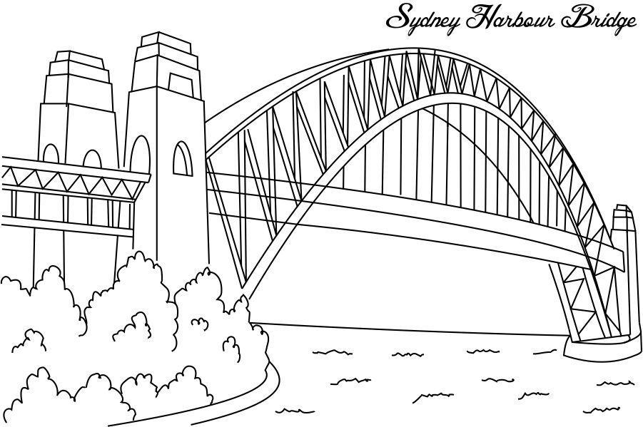 Sydney Harbour Bridge Coloring
