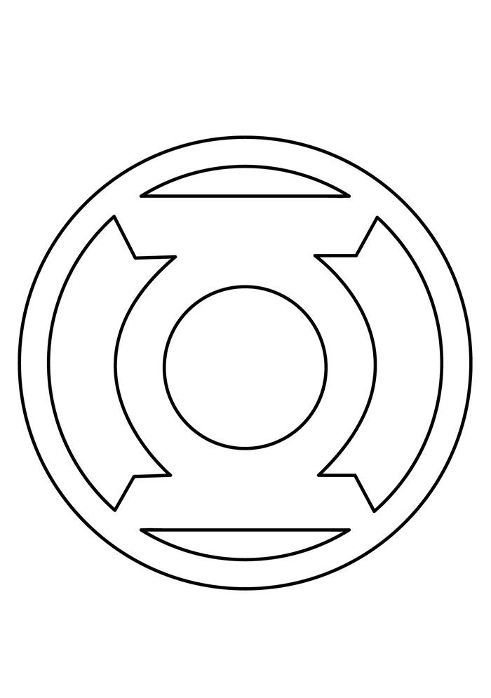Symbol Of Green Lantern Coloring Page - Free Printable ...