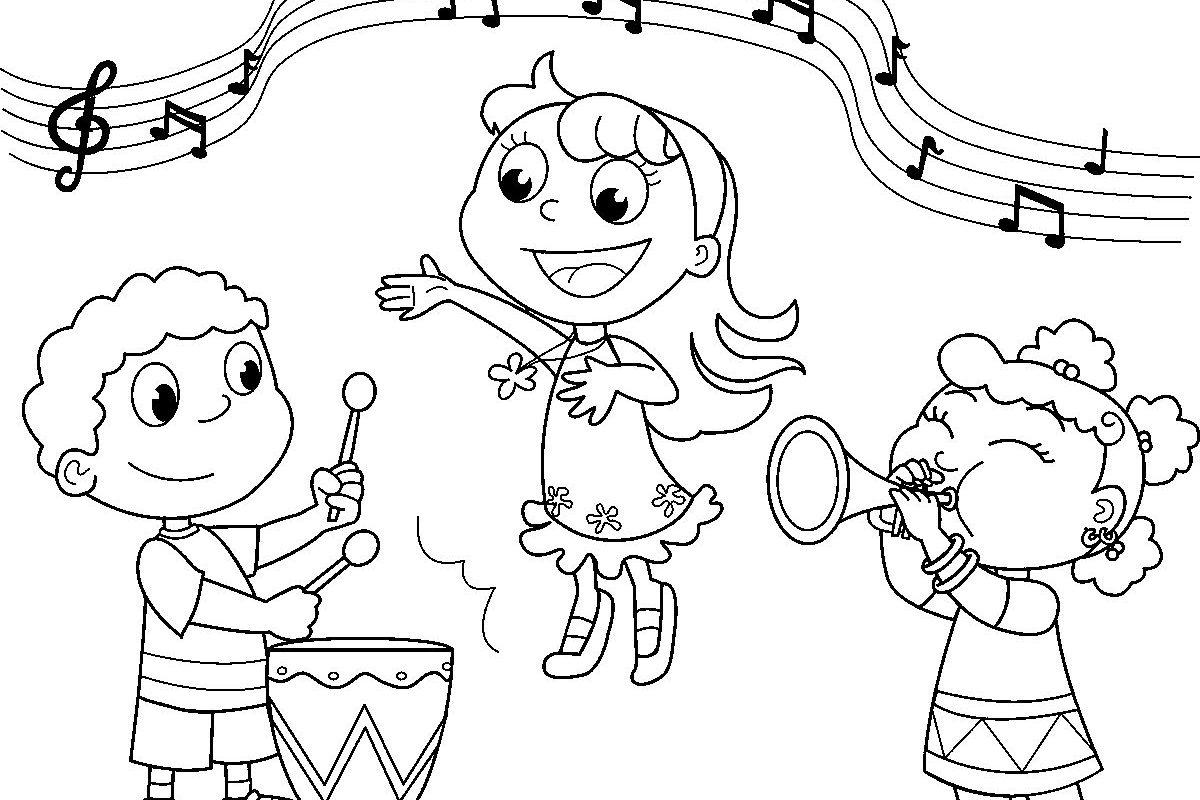 children u0026 39 s concert coloring page