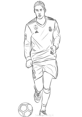 Raphaël Varane Playing Soccer Coloring Page - Free Printable ...