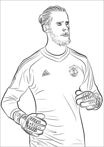 David de Gea Goalkeeper Coloring