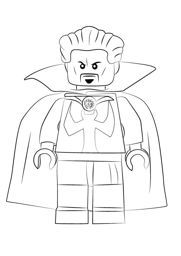 Lego Doctor Strange Coloring Page