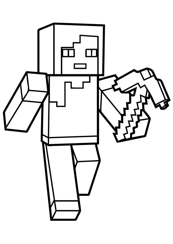Alex Minecraft Coloring Page - Free Printable Coloring ...
