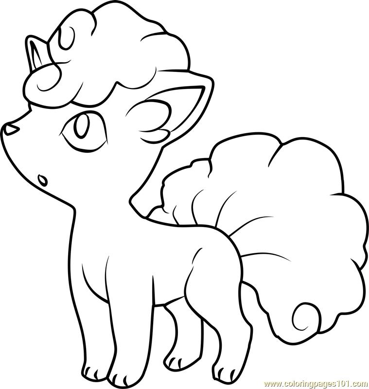 Alolan Vulpix Pokemon Coloring