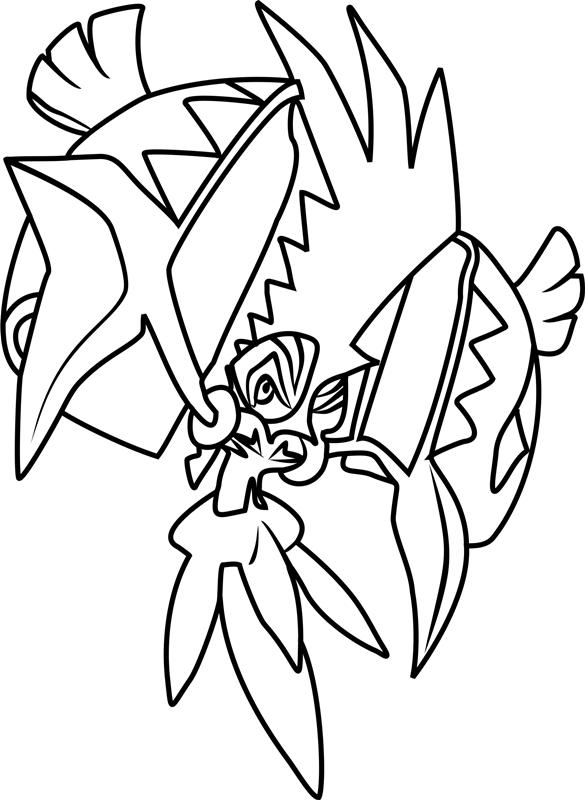 Tapu Koko Pokemon Coloring Page Free Printable Coloring