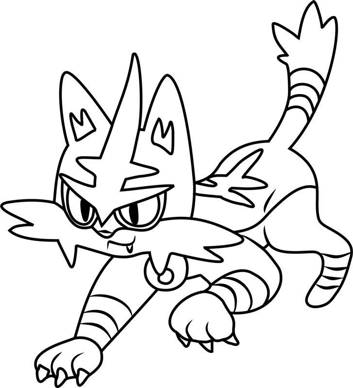 Pokemon Kleurplaten Torecat Torracat Moving Coloring Page Free Printable Coloring