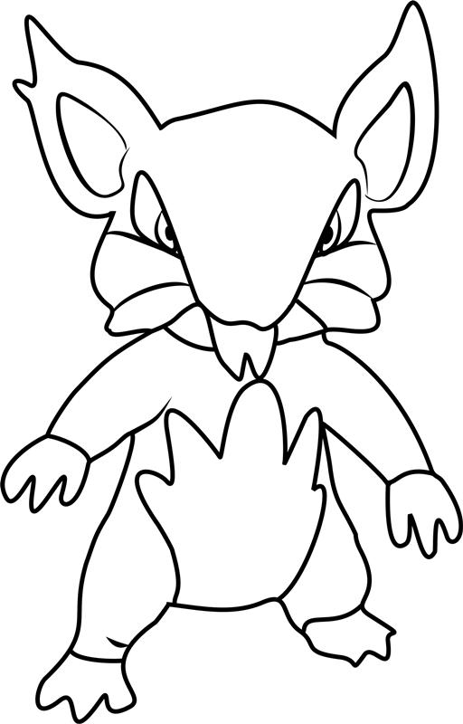 Alolan Rattata Pokemon Coloring Page Free Printable