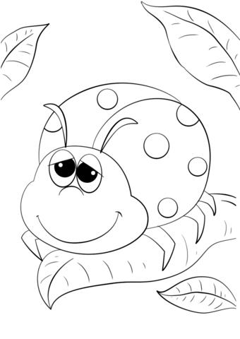 Cartoon Ladybug Coloring Page Free Printable Coloring