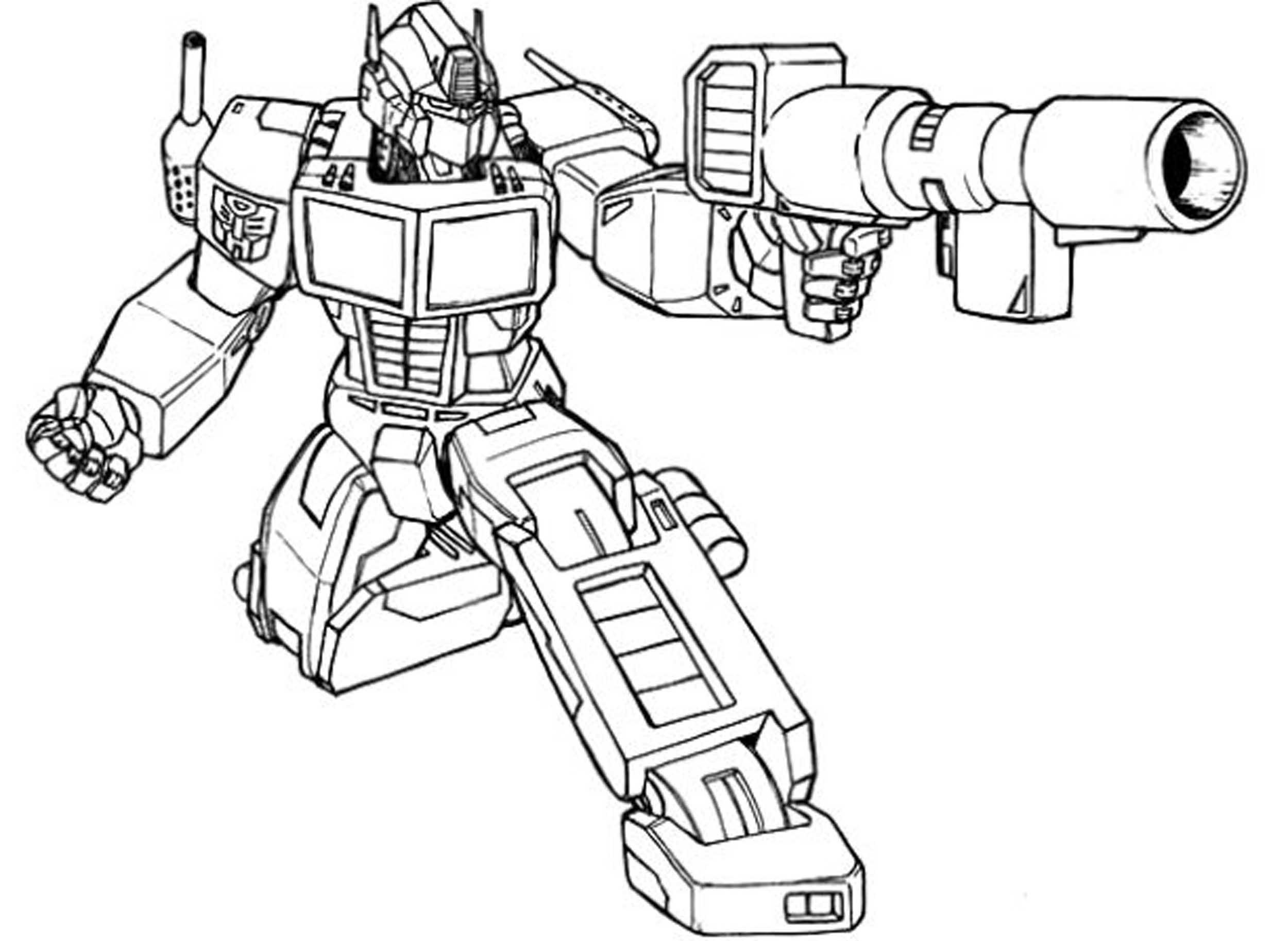 Optimus Prime Fighting Coloring Page - Free Printable ...
