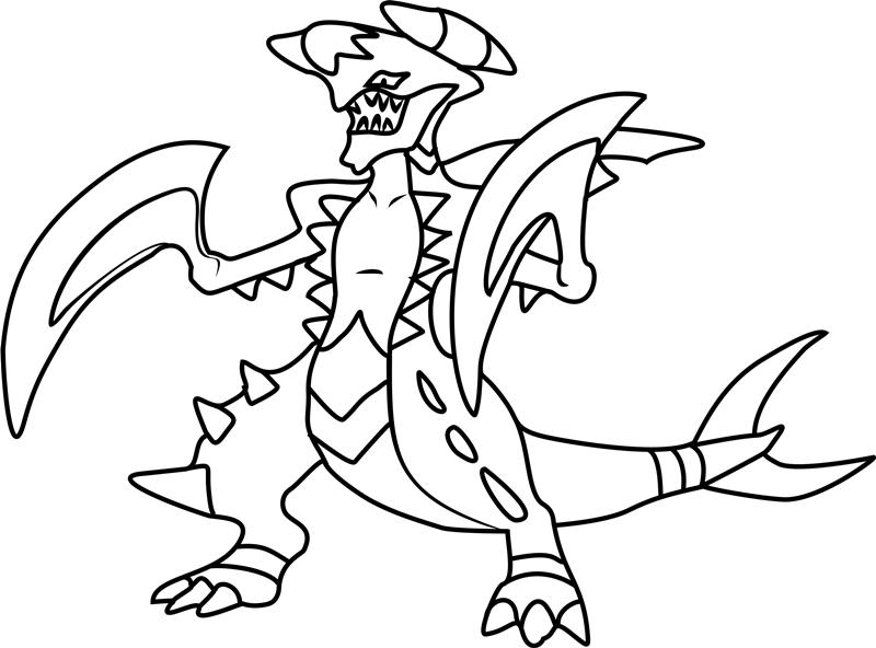 Mega Garchomp Pokemon Coloring