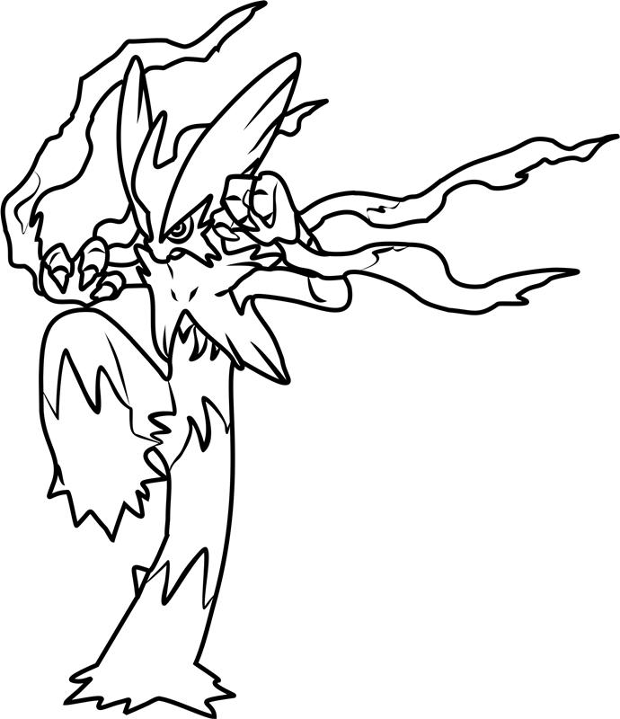 Mega Blaziken Pokemon Coloring