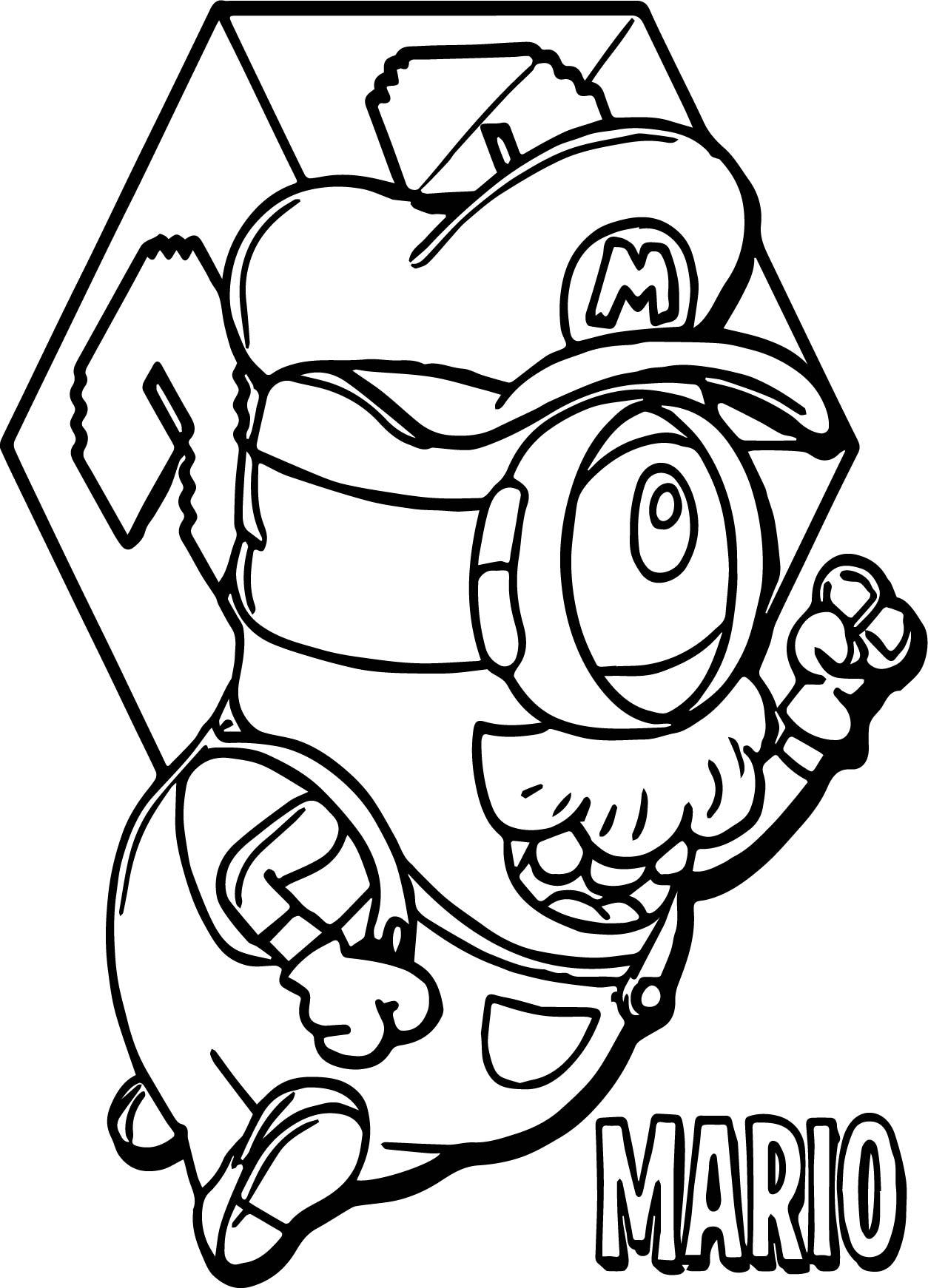 Super Mario Minion Coloring Page