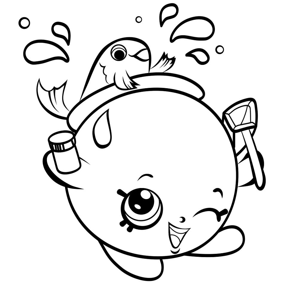 Goldie Fish Bowl Shopkin Coloring Page - Free Printable Coloring ...