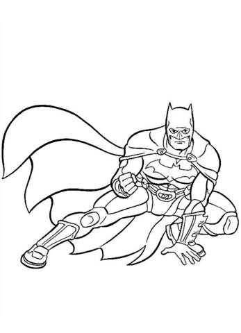tô màu cho nhân vật batman